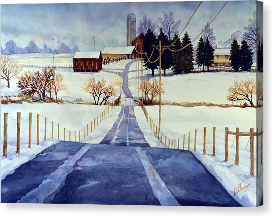 The White Season Canvas Print