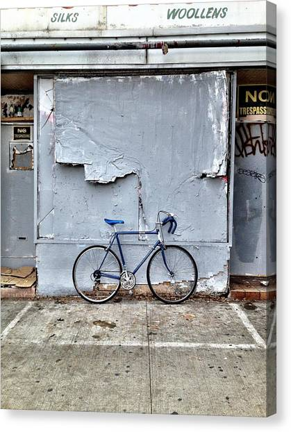 Bicycle Canvas Print - the white zone is for Blue Meenie only  by Kreddible Trout