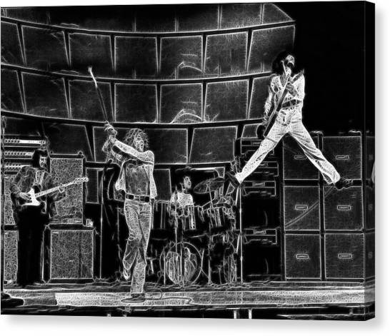 The Who - A Pencil Study - Designed By Doc Braham Canvas Print