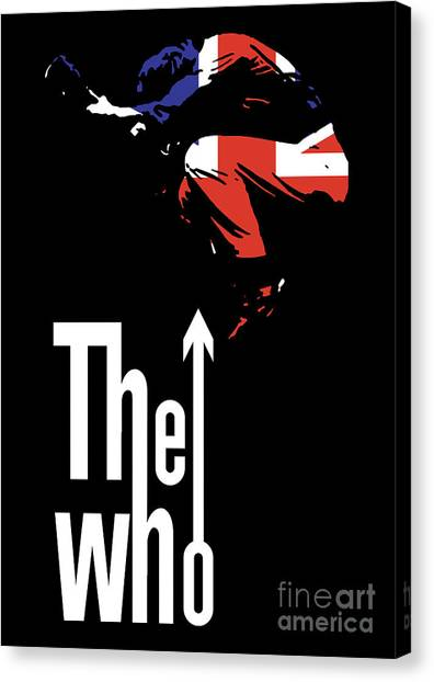 Rock Music Canvas Print - The Who No.01 by Geek N Rock