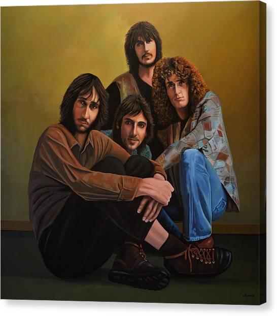 Celebrity Portrait Canvas Print - The Who by Paul Meijering