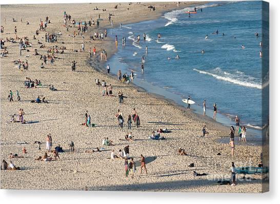 The Wide Sweep Of Bondi Beach - Sydney - Australia Canvas Print