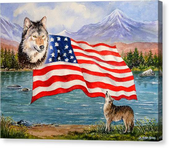 Howling Wolves Canvas Print - The Wildlife Freedom Collection 1 by Andrew Read