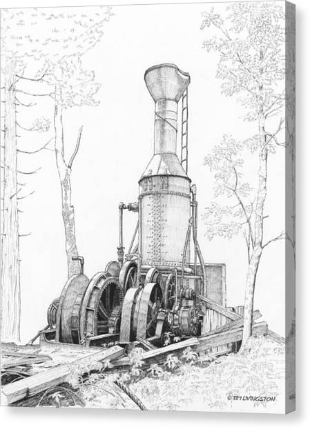 The Willamette Steam Donkey Canvas Print