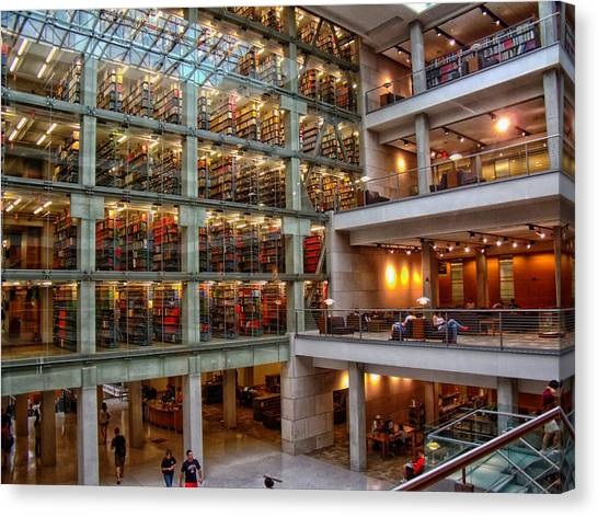 Ohio State University Canvas Print - The William Oxley Thompson Memorial Library by Mountain Dreams