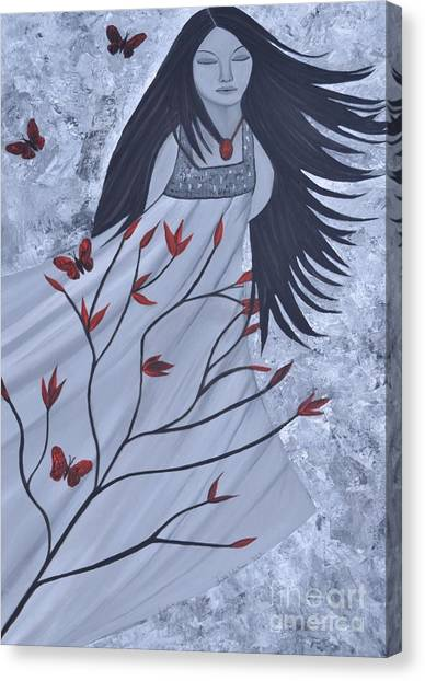 The Wind Of The Spirit Acrylic Painting By Saribelle Rodriguez Canvas Print