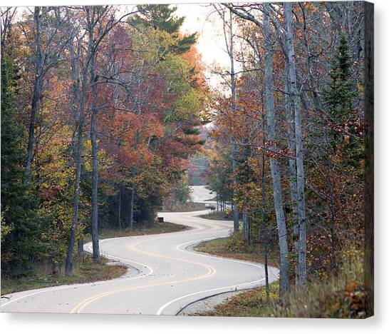The Winding Road Canvas Print by Jim Baker