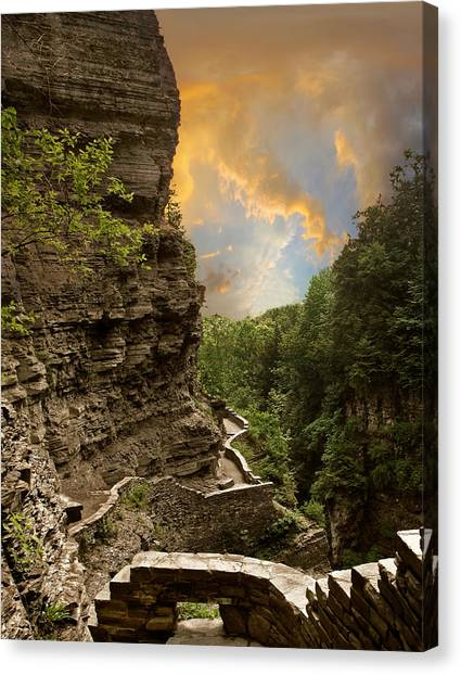 The Winding Trail Canvas Print