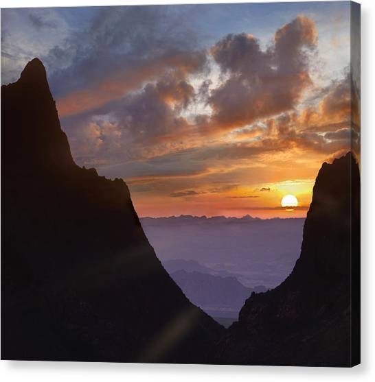 Canvas Print featuring the photograph The Window At Sunset Big Bend Np Texas by Tim Fitzharris