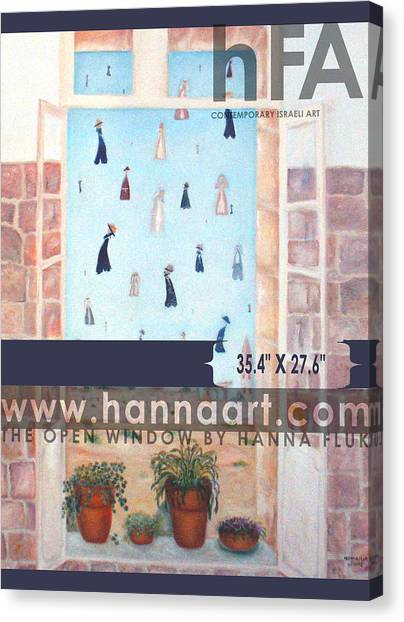 The Window Canvas Print by Hanna Fluk