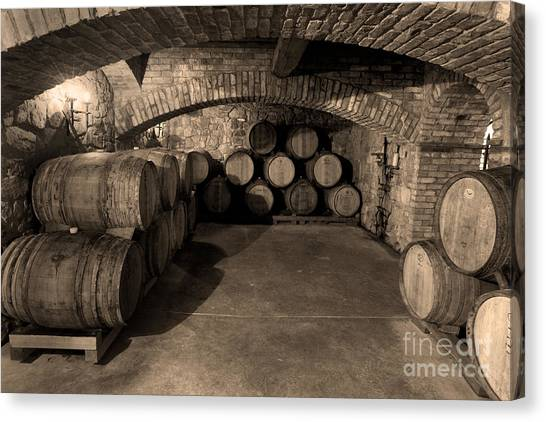 Cognac Canvas Print - The Wine Cave by Jon Neidert