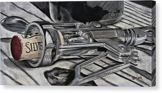 Cork Canvas Print - The Wine Master's Touch by Brien Cole
