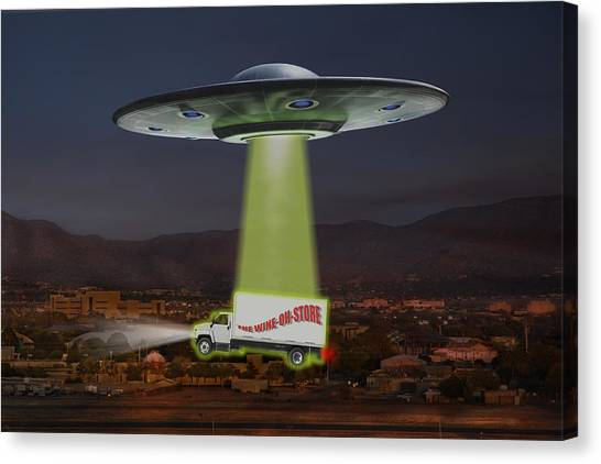 Ufo Canvas Print - The Wine-oh-store by Mike McGlothlen