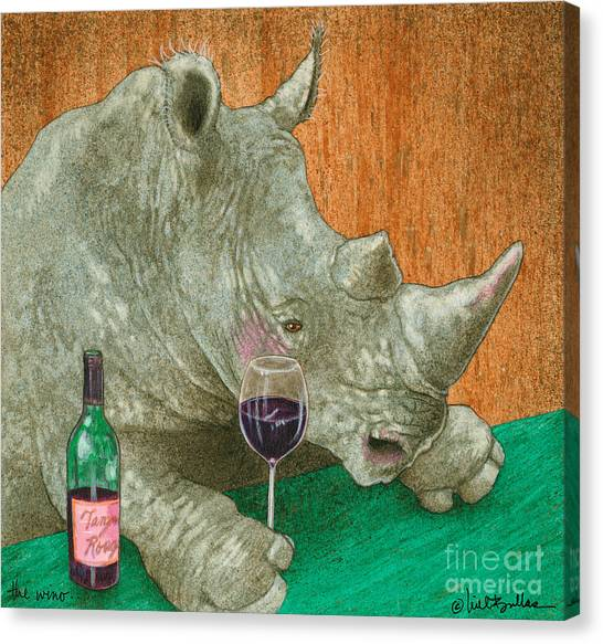 The Wino... Canvas Print
