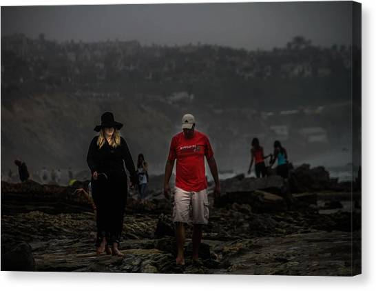 The Witch On The Beach Canvas Print