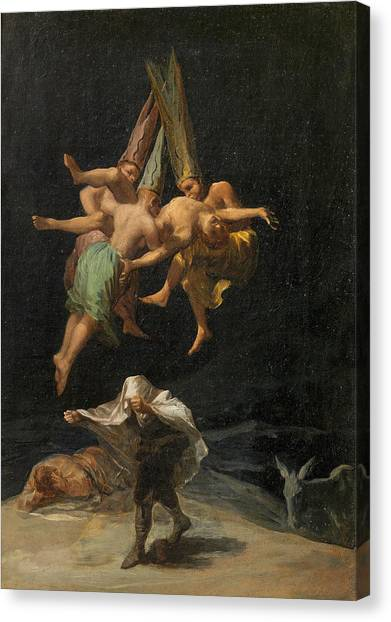 The Prado Canvas Print - The Witches' Flight by Francisco Goya