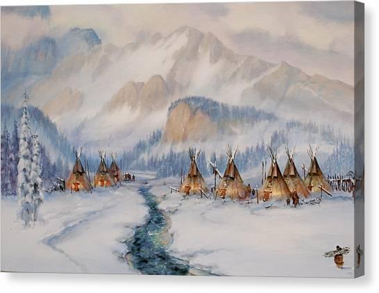 The Wood Gatherer Canvas Print