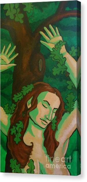 The Wooded Woman Canvas Print