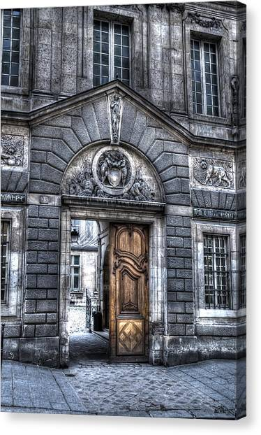 The Wooden Door Canvas Print