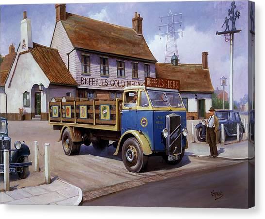The Woodman Pub. Canvas Print