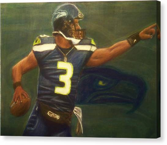 The Word Is Out Feat Russell Wilson Canvas Print by D Rogale