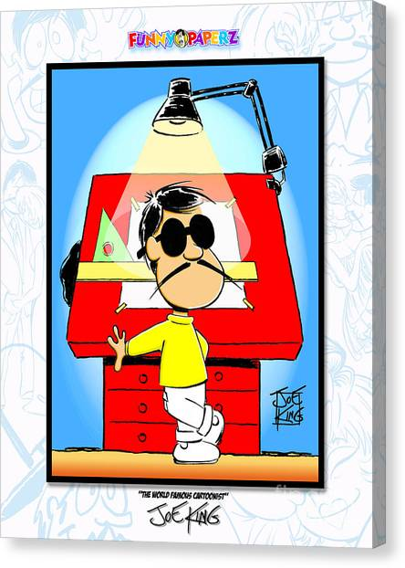 The World Famous Cartoonist Canvas Print by Joe King