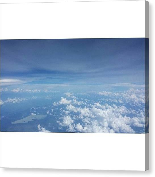 Songbirds Canvas Print - The World Seems So Small... #clouds by Ben Finch