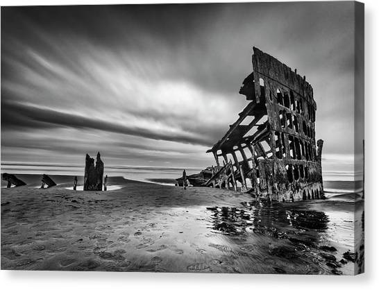 Apocalypse Canvas Print - The Wreck Of The Peter Iredale by Lydia Jacobs