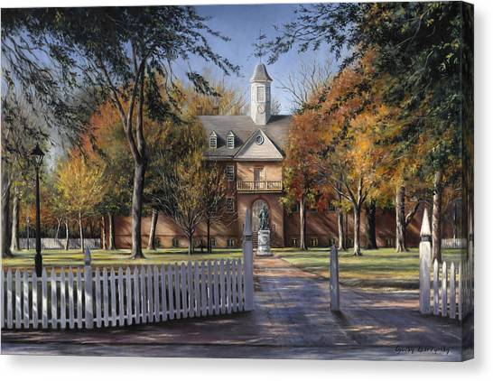 University Of Virginia Canvas Print - The Wren Building - College Of William And Mary by Gulay Berryman