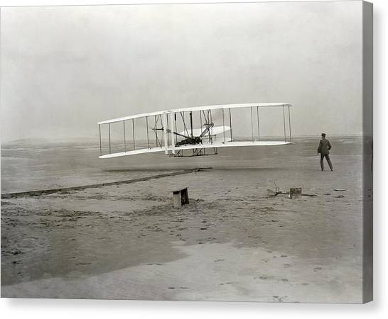 Flyer Canvas Print - The Wright Brothers' First Powered by Science Photo Library