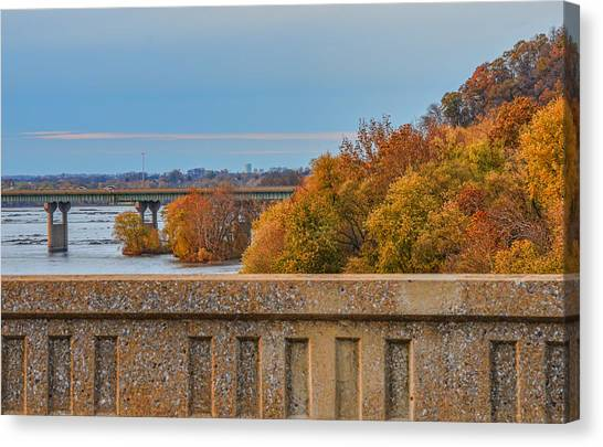 The Wright's Ferry Bridge In Fall Canvas Print