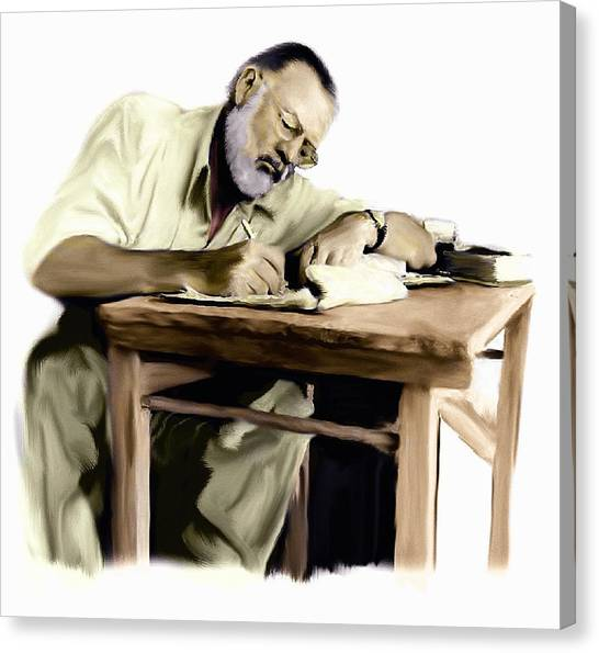 The Writer  Ernest Hemingway Canvas Print