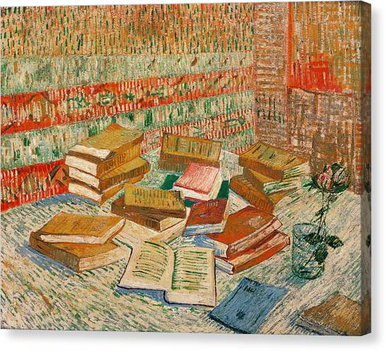 Desks Canvas Print - The Yellow Books by Vincent Van Gogh