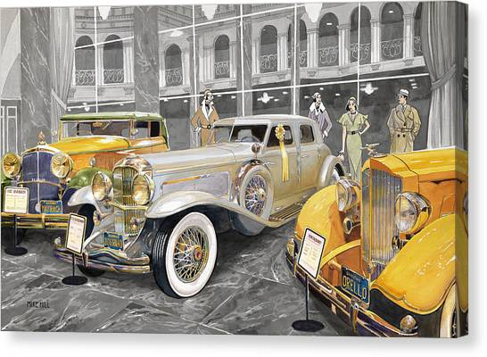 Car Canvas Print - The Yellow Ribbon by Mike Hill