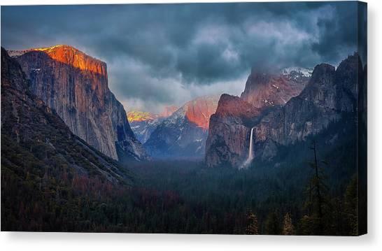 Yosemite National Park Canvas Print - The Yin And Yang Of Yosemite by Michael Zheng
