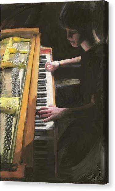 The Young Pianist Canvas Print