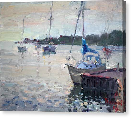 Yacht Canvas Print - The Youngstown Yachts by Ylli Haruni