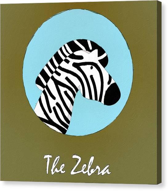 Zebras Canvas Print - The Zebra Cute Portrait by Florian Rodarte