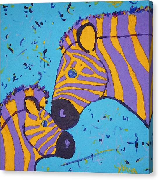 The Zebra Nuzzle Canvas Print