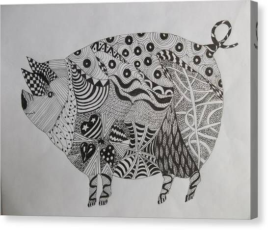 The Zen Pig Canvas Print