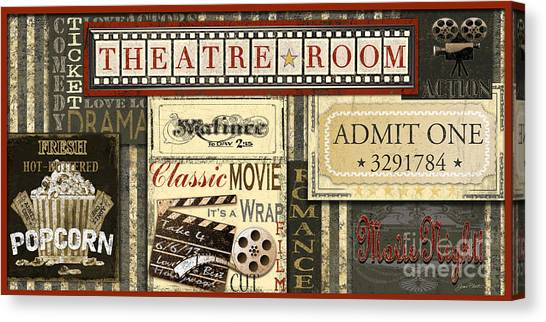 Popcorn Canvas Print - Theatre Room by Jean Plout