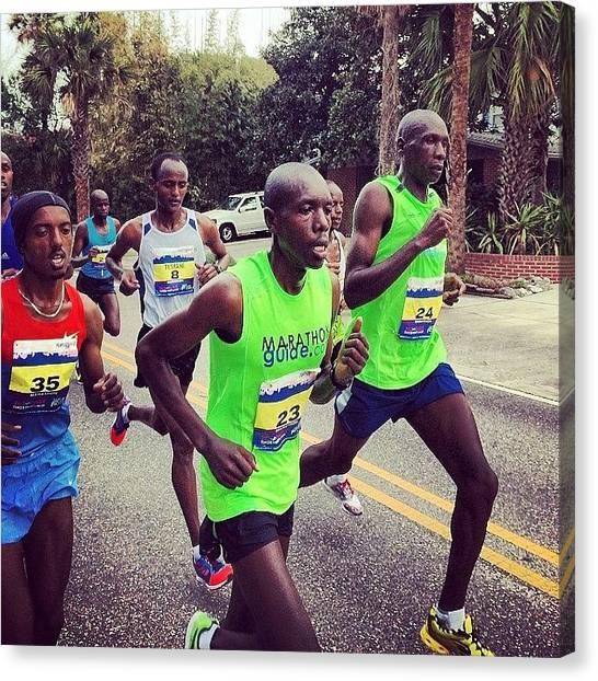 Kenyan Canvas Print - #thedonna #marathon #racing  #runners by Tony Sinisgalli