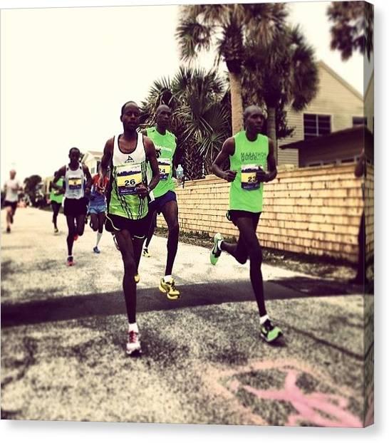 Kenyan Canvas Print - #thedonna #marathon #runners #running by Tony Sinisgalli