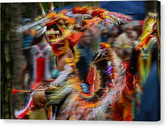 Their Spirit Is Among Us - Nanticoke Powwow Delaware Canvas Print