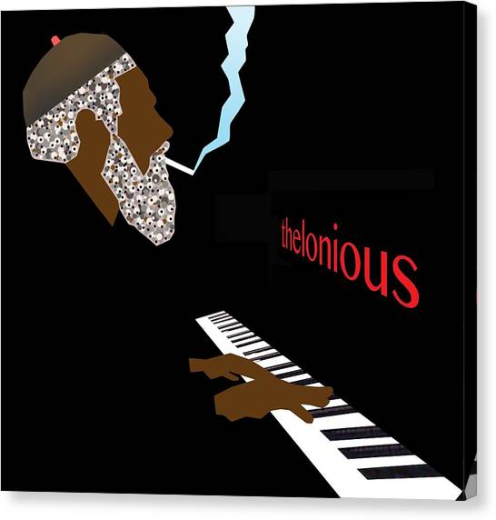 Thelonious Monk Canvas Print by Victor Bailey