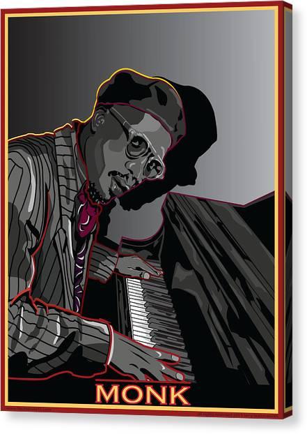 Thelonius Monk Legendary Jazz  Pianist Canvas Print by Larry Butterworth
