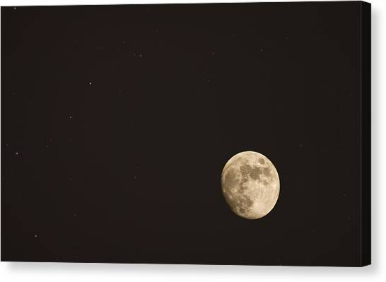 Themoon Canvas Print by Amr Miqdadi