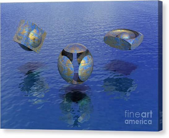 Then There Were Three - Surrealism Canvas Print