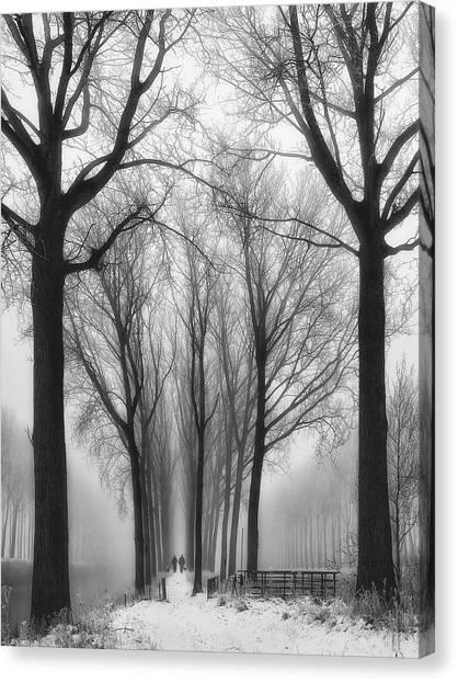 Belgium Canvas Print - Then Winter Comes by Yvette Depaepe