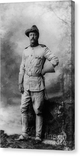 Theodore Roosevelt Canvas Print - Theodore D Roosevelt 26th President Of The United States Of America  by Anonymous